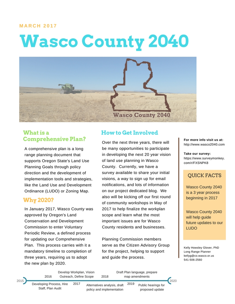 N. Wasco County 2040 Two Sheet