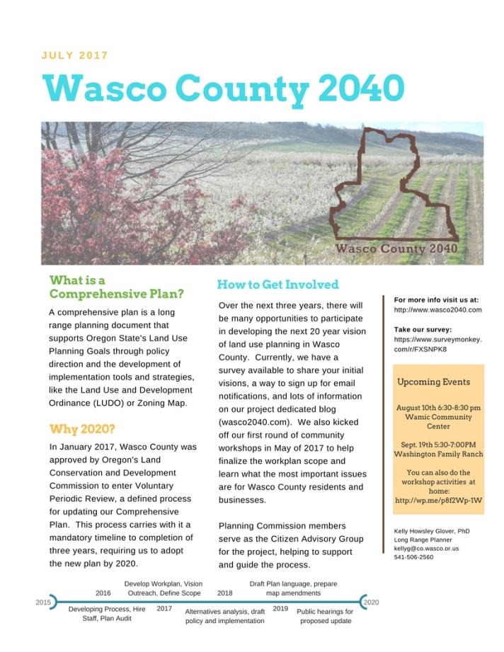 Wasco County 2040 Two Sheet July